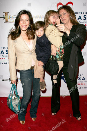 Tricia Leigh Fisher and Son, Joely Fisher and Daughter