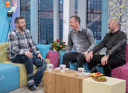 Dave Gorman with Tim Lovejoy and Simon Rimmer