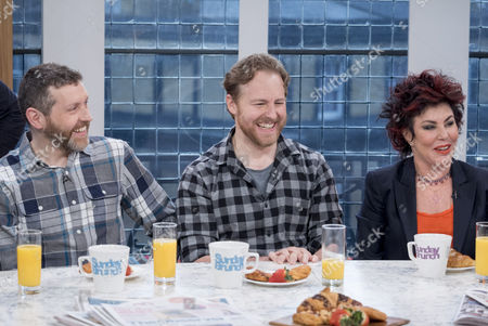 Dave Gorman, Samuel West and Ruby Wax