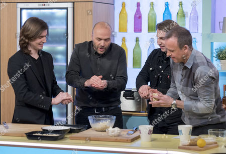 We Are The Ocean - Liam Cromby, bass guitarist Jack Spence, guitarist Alfie Scully and drummer Tom Whittaker with Tim Lovejoy and Simon Rimmer