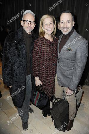 Patrick Cox, David Furnish with Jo Levine
