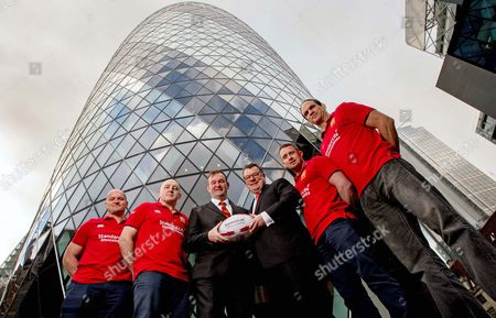 Standard Life Investment ambassadors Gregor Townsend, Keith Wood, Shane Williams and Martin Johnson with British & Irish Lions CEO John Feehan and Keith Skeoch, Chief Executive Officer of Standard Life plc today announced Standard Life Investments as the Principal Partner and Jersey Sponsor of The British & Irish Lions 2017 Tour to New Zealand.