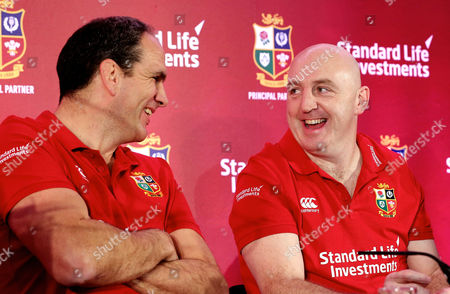 Standard Life Investment ambassadors Martin Johnson and Keith Wood at today's announcement of Standard Life Investments as the Principal Partner and Jersey Sponsor of The British & Irish Lions 2017 Tour to New Zealand.