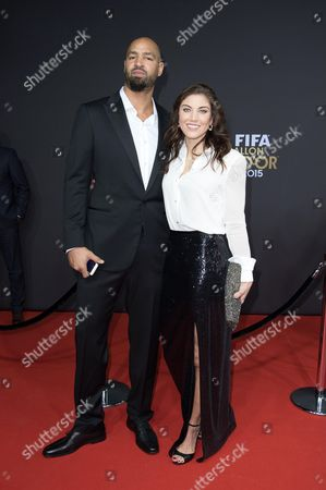 Stock Photo of Hope Solo and Jerramy Stevens