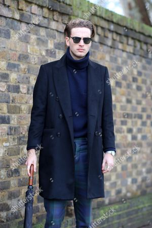 Editorial image of Street Style, London Collections Men, Autumn Winter 2016, Britain - 11 Jan 2016