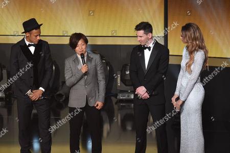 Neymar, Aya Miyama, Lionel Messi