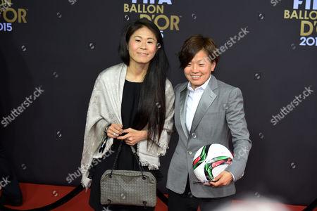 (L-R) Homare Sawa, Aya Miyama