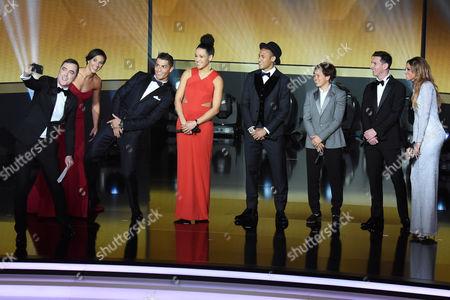 James Nesbitt, Carli Lloyd, Cristiano Ronaldo, Celia Saslic, Neymar, Aya Miyama, Lionel Messi, Kate Abdo