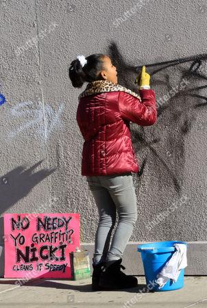 Editorial picture of 'Nicki' TV series on set filming, New York, America - 11 Jan 2016