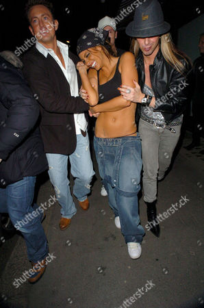 Dave Morgan, Jodie Marsh and Ricardo on their way to Chinawhite  after leaving The Embassy Club