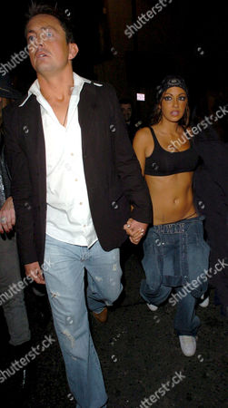 Dave Morgan and Jodie Marsh on their way to Chinawhite  after leaving The Embassy Club