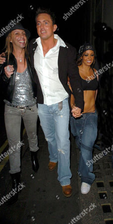 Stock Photo of Ricardo with Dave Morgan and Jodie Marsh on their way to Chinawhite  after leaving The Embassy Club