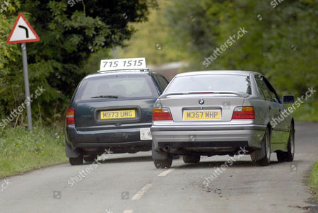 The cab being forced off the road. Steve MacDonald, played by Simon Gregson, starts a relationship with Ronnie Clayton (Emma Stansfield). Unfortunately for him, Ronnie has just left her violent husband Jimmy (David Crellin) who runs a rival cab firm. Scenes show Steves' cab being forced off the road and shots being exchanged.