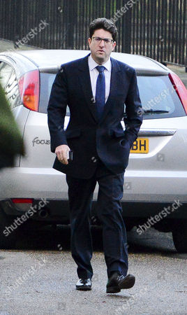 Lord Feldman arriving at the back door of No10