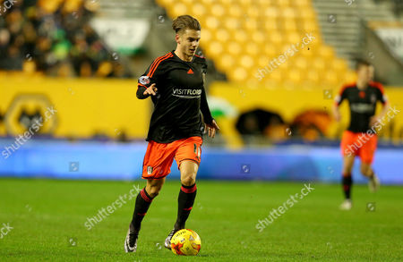 Alex Kacaniklic of Fulham during the Sky Bet Championship match between Wolverhampton Wanderers and Fulham played at Molineux, Wolverhampton on 12th January 2016