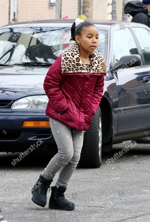 Editorial image of 'Nicki' TV series on set filming, New York, America - 12 Jan 2016