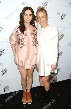 Lily Collins and Joanne Froggatt
