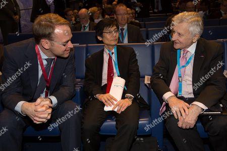 Jens Weidmann Bundesbank President, Haruhiko Kuroda Governor of the Bank of Japan and Jean-Claude Trichet
