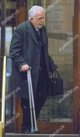 Dr Errol Cornish leaving Inner London Crown court this afternoon.