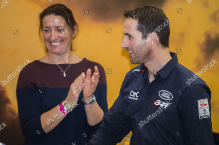 Sir Ben Ainslie and Dee Caffari, a special guest for Women in the Marine Industry day