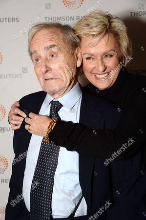 Tina Brown & sir Harold Evans