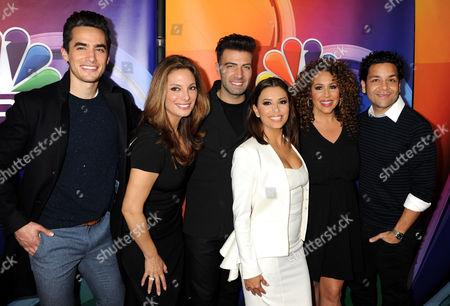 Jose Moreno Brooks, Alex Meneses, Jencarlos Canela, Eva Longoria, Diana Maria Riva and Izzy Diaz
