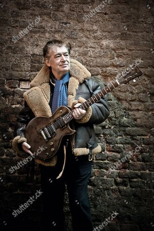 London United Kingdom - January 29: Portrait Of English Session Musician Chris Spedding Photographed In London On January 29 2015. Spedding Is Best Known As A Rock And Jazz Guitarist Working With Acts Such As Jack Bruce And Roxy Music