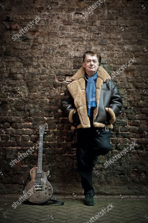 Stock Image of London United Kingdom - January 29: Portrait Of English Session Musician Chris Spedding Photographed In London On January 29 2015. Spedding Is Best Known As A Rock And Jazz Guitarist Working With Acts Such As Jack Bruce And Roxy Music