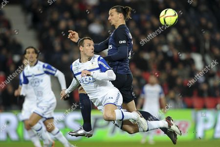 Stock Photo of Zlatan Ibrahimovic, Sebastien Squillaci