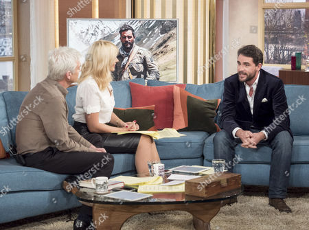 Phillip Schofield and Holly Willoughby with Levison Wood