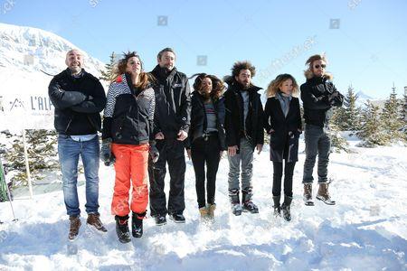 Julien Arruti, Charlotte Gabris, Vincent Desagnat, Alice David, Nicolas Benamou, Elodie Fontan and Philippe Lacheau