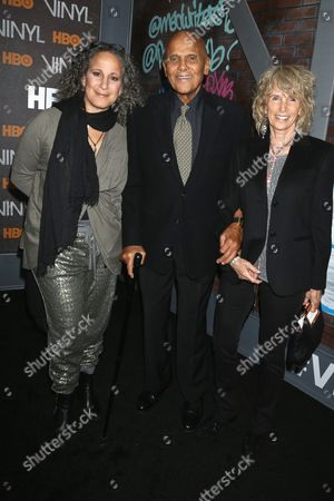 Gina Belafonte, Harry Belafonte and wife Pamela Frank