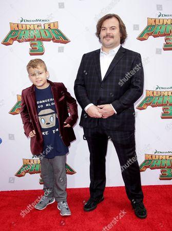 Jack Black and son Samuel Black