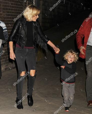 Malin Akerman and son Sebastian Zincone