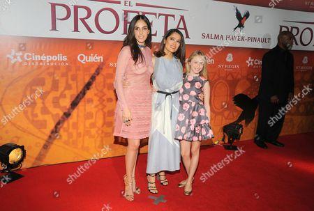 Sandra Echeverria, Salma Hayek, Loreto Peralta
