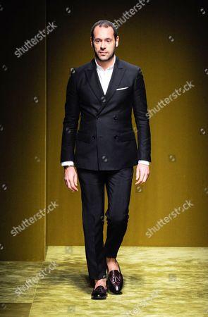 Massimiliano Giornetti on the catwalk