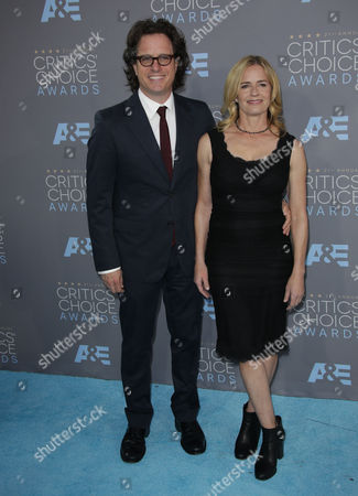Stock Photo of David Guggenheim and Elisabeth Shue