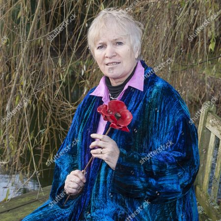 Editorial photo of Radio Presenter And Journalist Libby Purves With Her Tower Of London Poppy At Her Home In Suffolk. Picture David Parker 19.12.14. Writer Libby Purves.