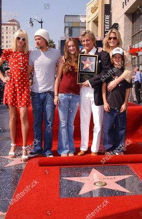 Kimberly, Sean, Rene, Rod and Liam Stewart with Penny Lancaster