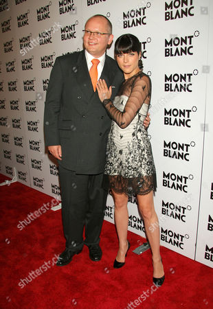 Montblanc's CEO, Jan Patrick Schmitz and Selma Blair