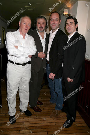 Jim Norton with Conleth Hill , James Nesbitt and Packy Lee