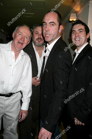 Stock Picture of Jim Norton with Conleth Hill , James Nesbitt and Packy Lee