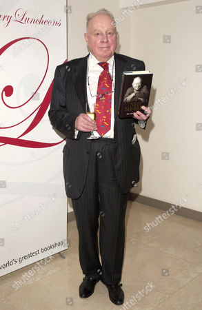 Ned Sherrin with his book