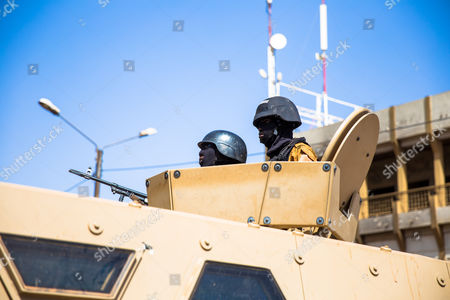 Stock Image of Soldiers are securing the scene