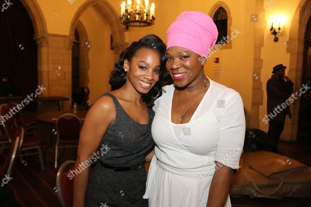 Stock Photo of Anika Noni Rose and India Arie backstage