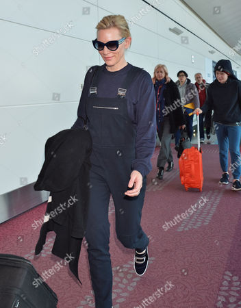 Editorial picture of Cate Blanchett at Tokyo International Airport, Japan - 20 Jan 2016