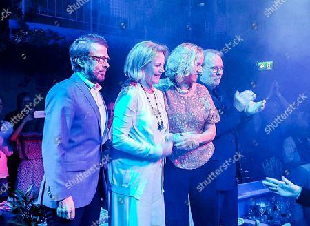 ABBA reunited on stage: Bjorn Ulvaeus, Agnetha Faltskog, Benny Andersson and Anni-Frid Lyngstad