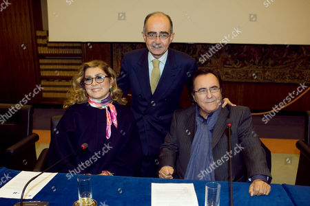 Al Bano and Romina Power with Giancarlo Leone