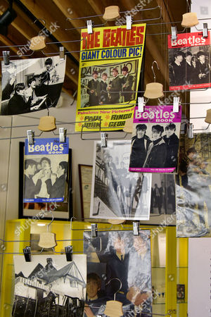 Stock Photo of Beatles memorabilia