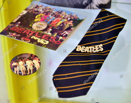 Stock Image of Beatles memorabilia